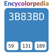 Upg Paint Color Chart 3b83bd Hex Color Code Schemes Paints