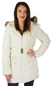 Jessica Simpson Quilted Down Women's Belted Long Hooded Parka ... & Jessica-Simpson-Quilted-Down-Women-039-s-Belted- Adamdwight.com