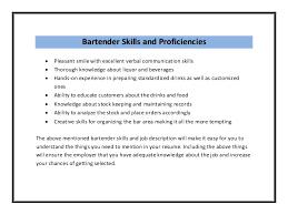 ... Sample Bartender Resume Skills bartender-resume-sample pdf ...