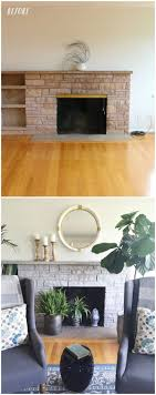 before and after painted stone fireplace makeover the inspired room