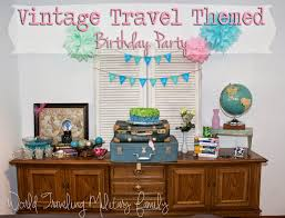 Bea wanted to have a Vintage Travel themed party for her 11th birthday,  luckily that went right along with the decor of our home so I was able to  put one ...