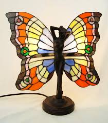 Details About Art Deco Butterfly Angel Fairy Tiffany Stained Glass Lamp With Metal Base