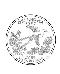 Usa Printables Oklahoma State Quarter Us States Coloring Pages