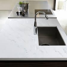 Bathroom White Tranquility Hanstone Quartz Countertop With Granite