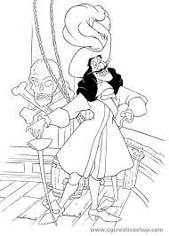 Capitan Giacomo Uncino Disney Disegno Da Colorare