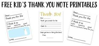 Thank You Notes Kids Thank You Card Printable The Happier Homemaker
