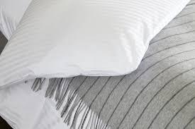 white satin stripe egyptian cotton bed