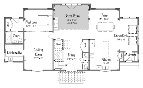 Inside Pole Barn Floor Plans  32x48 Timberframe Plans In Need Gambrel Roof House Floor Plans