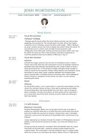 Visual Merchandiser Resume samples