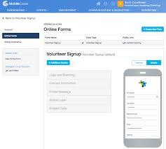 Volunteer Signup Design Mobilecause