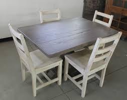Custom Made Old Oak Pedestal Table In Driftwood Finish Seen Dark