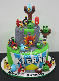 Angry bird cake for Kieran s 8th birthday