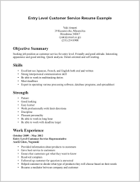 Examples Of Resumes For Customer Service Jobs 56410 Resume Templates