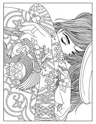 Small Picture Woman tattoos Tattoos Coloring pages for adults JustColor