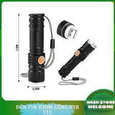 Đèn pin cầm tay siêu sáng cổng sạc usb 515 ⚡ - Đèn pin