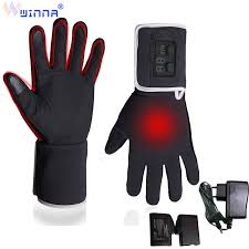 <b>New</b> Arrival Leather <b>Electric Heating Gloves</b> for Men Women Riding ...