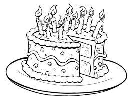 Coloring Birthday Cake Birthday Cake Coloring Page Printable