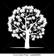 tree vector white. vector. white maple tree. - csp28482069 tree vector t