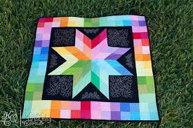 6 Stunning Rainbow Quilt Ideas & Rainbow Lonestar Adamdwight.com