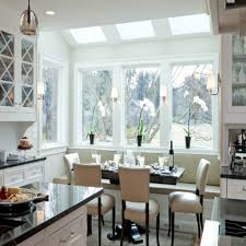 Bay Window Kitchen Kitchen Bay Window Style Window Treatments Kitchen Bay Window