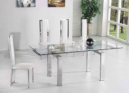 All Glass Dining Room Table Dining Glass Extending Dining Tables
