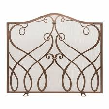Plow Hearth Small Crest Fireplace Screen With Doors Reviews Inside Small Fireplace Screens