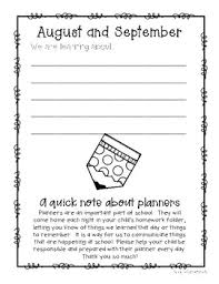 Monthly Planners Student Parent And Teacher Communication