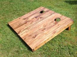 Wooden Corn Hole Game Grizzy Games One Wood Stain 12