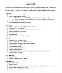 Event Planner Contract New Event Planning Schedule Template