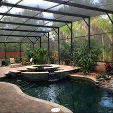 landscaping around pool screen enclosure swimming e47