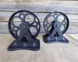 industrial furniture wheels. Set Of 2 Vintage Inspired Metal Iron LARGE CASTER WHEELS ~ Industrial Furniture Restoration Hardware Man Wheels