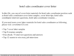 hotel sales coordinator cover letter in this file you can ref cover letter materials for sales coordinator cover letter