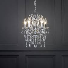small 5 light curve arm chandelier bathroom lighting