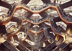 heatherwick unveils staircase structure for new yorks hudson yards big heatherwick futuristic google hq