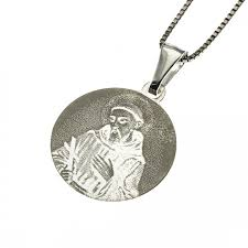 necklace with pendant in 925 sterling silver saint francis gift man woman par300 jpg