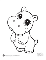 Small Picture LeapFrog Printable Baby Animal Coloring Pages Hippo Ideas