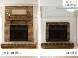 fireplace makeover the lettered cottage intended for update brick ideas 17