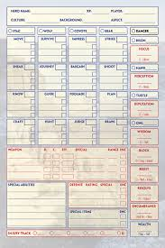 Rpg Character Sheet Designer What Are You Designing Character Sheets With Rpgnet Forums