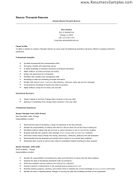 Massage Therapy Resume The Best Letter Sample
