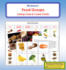 Food Groups Sorting Cards Chart