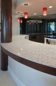 favored curved counter island with white recycled glass countertops for modern home bar added modern ceiling kitchen lighting decors views