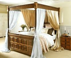 4 Poster Bed Curtains Four Poster Bed Drapes Four Poster With Satin ...