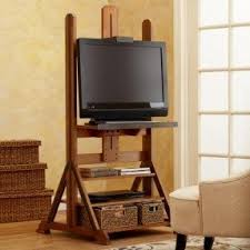 industrial media furniture. easel media stand from world market cover with art canvas industrial furniture c
