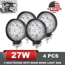 Led Lights How They Work Details About 27w 4pcs Led Work Light For Agriculture Machinery 4 Inch Round Spot Beam Driving