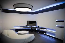 ultra modern entertainment room using led lighting