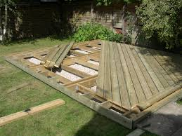 Photo Gallery of Q-deck Sun Deck in Berden. Timber Decking boards are  situated in the area of the garden that gets most summer sunlight.