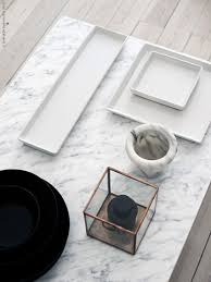 Make the living room more elegant with a gorgeous marble coffee table.