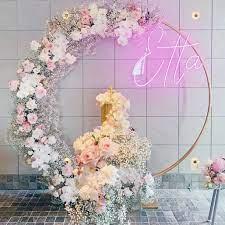 "Little Pineapple Neon on Instagram: ""💖Etta💖 Flowers @floranectar_flowers  Props @allureeventssydney Cake @buttercreambandit Neon light  @littlepineappleneon…"
