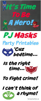 Pj Mask Party Decoration Ideas PJ Masks Party Printables for FREE Mandy's Party Printables 97