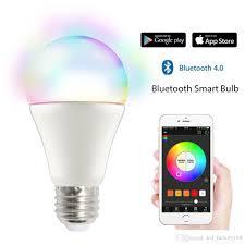 smartphone controlled lighting. Bluetooth Smart Light Bulb Dimmable 9 Watt Equivalent 60w Wake Up Led Lights \u0026 Sleeping Night Smartphone Controlled Xmas Seas Full Spectrum Lighting